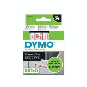 Etichete autocolante, DYMO LabelManager D1, 12mm x 7m, rosu/alb, 45015 S07205505