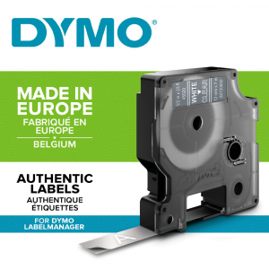 Etichete autocolante, DYMO LabelManager D1, 12mm x 7m, alb/transparent, 45020 S07206001