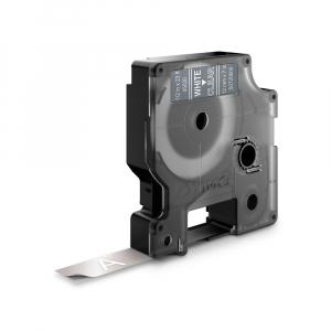 Etichete autocolante, DYMO LabelManager D1, 12mm x 7m, alb/transparent, 45020 S07206000