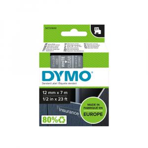 Etichete autocolante, DYMO LabelManager D1, 12mm x 7m, alb/transparent, 45020 S07206003