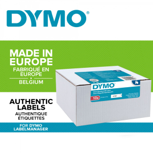 Etichete autocolante, DYMO LabelManager D1, 9mm x 7m, negru/alb, 10 buc/set, 40913, 2093096 DY20930960