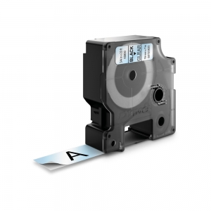 Etichete autocolante plastifiate, DYMO LabelManager D1, 19mm x 7m, negru/transparent, 45800 S07208201