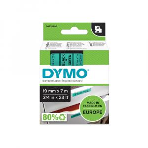 Etichete autocolante plastifiate, DYMO LabelManager D1, 19mm x 7m, negru/verde, 45809 S07208903