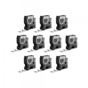 Etichete autocolante plastifiate, DYMO LabelManager D1, 19mm x 7m, negru/alb, 10 buc/set, DY45803 DY20930987