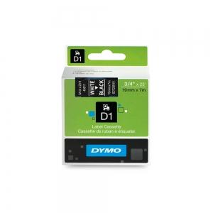 Etichete autocolante plastifiate, DYMO LabelManager D1, 19mm x 7m, alb/negru, 45811 S07209105