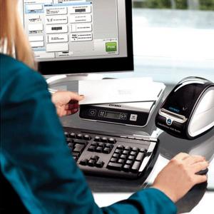Imprimanta termica etichete DYMO LabelWriter 450 Turbo si 6 x Etichete termice, DYMO LabelWriter, ecusoane/carduri medii, neadezive1