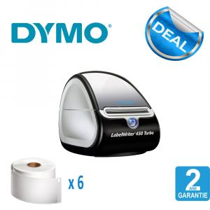 Imprimanta termica etichete DYMO LabelWriter 450 Turbo si 6 x Etichete termice, DYMO LabelWriter, ecusoane/carduri medii, neadezive0