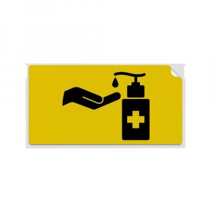 Etichete termice, DYMO LabelWriter, 54mmx101mm, hartie galbena, mesaje avertizare, adrese voiaj, permanente, 1 rola/cutie, 220 etichete/rola, 2133400, 990145