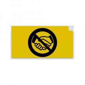 Etichete termice, DYMO LabelWriter, 54mmx101mm, hartie galbena, mesaje avertizare, adrese voiaj, permanente, 1 rola/cutie, 220 etichete/rola, 2133400, 990147