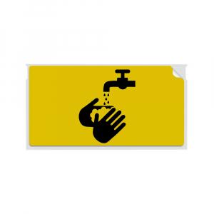 Etichete termice, DYMO LabelWriter, 54mmx101mm, hartie galbena, mesaje avertizare, adrese voiaj, permanente, 1 rola/cutie, 220 etichete/rola, 2133400, 990148
