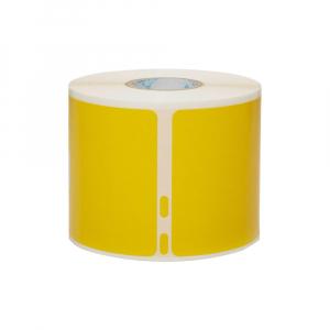 Etichete termice, DYMO LabelWriter, 54mmx101mm, hartie galbena, mesaje avertizare, adrese voiaj, permanente, 1 rola/cutie, 220 etichete/rola, 2133400, 990141