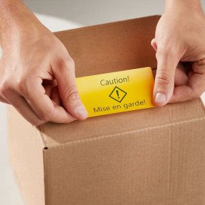 Set Etichete termice, DYMO LabelWriter, 54mmx101mm, hartie galbena, mesaje avertizare, adrese voiaj, permanente, 1 rola/cutie, 220 etichete/rola, 2133400, 990144