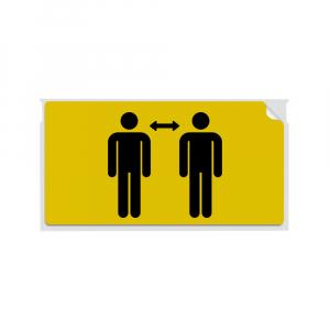 Etichete termice, DYMO LabelWriter, 54mmx101mm, hartie galbena, mesaje avertizare, adrese voiaj, permanente, 1 rola/cutie, 220 etichete/rola, 2133400, 990146