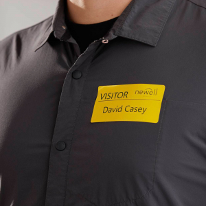 Etichete termice, DYMO LabelWriter, 54mmx101mm, hartie galbena, mesaje avertizare, adrese voiaj, permanente, 1 rola/cutie, 220 etichete/rola, 2133400, 990142