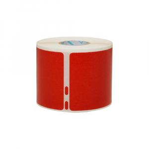 Etichete termice, DYMO LabelWriter, 54mmx101mm, hartie rosie, mesaje avertizare, adrese voiaj, permanente, 1 rola/cutie, 220 etichete/rola, 2133399, 990141