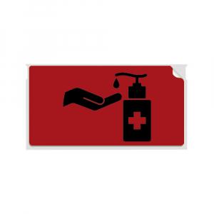 Etichete termice, DYMO LabelWriter, 54mmx101mm, hartie rosie, mesaje avertizare, adrese voiaj, permanente, 1 rola/cutie, 220 etichete/rola, 2133399, 990144