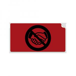 Etichete termice, DYMO LabelWriter, 54mmx101mm, hartie rosie, mesaje avertizare, adrese voiaj, permanente, 1 rola/cutie, 220 etichete/rola, 2133399, 990146