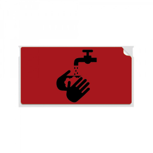 Etichete termice, DYMO LabelWriter, 54mmx101mm, hartie rosie, mesaje avertizare, adrese voiaj, permanente, 1 rola/cutie, 220 etichete/rola, 2133399, 990147