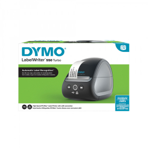 Imprimanta termica etichete DYMO LabelWriter 550 Turbo, senzor recunoastere eticheta, aparat de etichetat, viteza printare 71 etich/min, priza UK 211272711