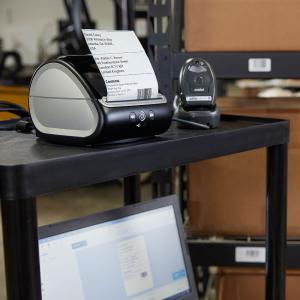 Imprimanta termica etichete DYMO LabelWriter 5XL, senzor recunoastere etichete, aparat de etichetat, priza UK 21127253