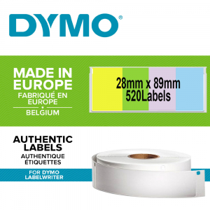 DYMO LabelWriter, Address Labels, permanent, 28mmx89mm, paper color, 4 rolls/box, 99011 99010 S07223800