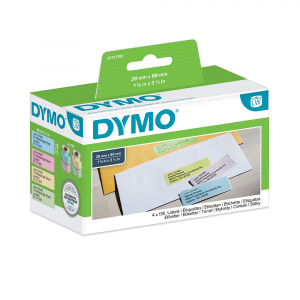 DYMO LabelWriter, Address Labels, permanent, 28mmx89mm, paper color, 4 rolls/box, 99011 99010 S07223805