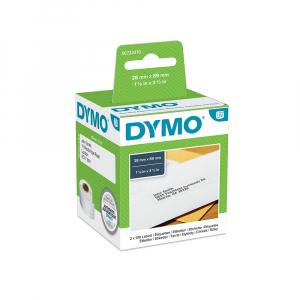 Etichete termice, DYMO LabelWriter, adrese, permanente, 28mmx89mm, hartie alba, 2 role/cutie, 130 etichete/rola, 99010 S0722370 19831736
