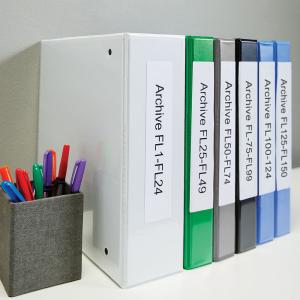 Etichete termice compatibile adrese, permanente, 190mm x 38mm, hartie alba, 110 etichete/rola, 99018 S07224701