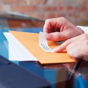 Etichete termice compatibile adrese, permanente, 28mm x 89mm, hartie alba, 130 etichete/rola, 99010 S07223702