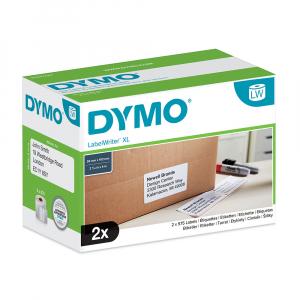 Etichete termice, DYMO LabelWriter, mare capacitate, transport/logisitica, doar pentru LW 4XL, permanente, 102mmx59mm, hartie alba, 2 role/cutie, 575 etichete/rola, 947420 S09474205
