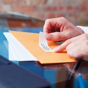 Etichete termice compatibile adrese mari, permanente, 89mmx36mm, hartie alba, 260 etichete/rola, 99012 S07224002