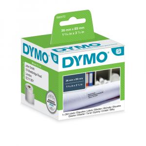 Etichete termice, DYMO LabelWriter, adrese mari, permanente, 89mmx36mm, hartie alba, 1 rola/cutie, 260 etichete/rola, 1983172 99012 S07224006