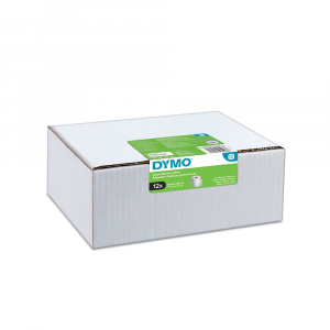 Etichete termice, DYMO LabelWriter, adrese mari, permanente, 89mmx36mm, hartie alba, 12 role/cutie, 260 etichete/rola, 2093093 99012 S07224008
