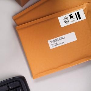Etichete termice, DYMO LabelWriter, adrese mari, permanente, 89mmx36mm, plastic transparent, 1 rola/cutie, 260 etichete/rola, S07224106