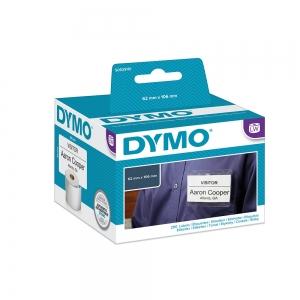 Etichete termice, DYMO LabelWriter, ecusoane/carduri mari, neadezive, 62mmx106mm, hartie alba, 1 rola/cutie, 250 etichete/rola, S09291103