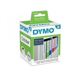Etichete termice, DYMO LabelWriter, biblioraft 75mm, permanente, 190mmx59mm, hartie alba, 1 rola/cutie, 110 etichete/rola, 99019 S07224806