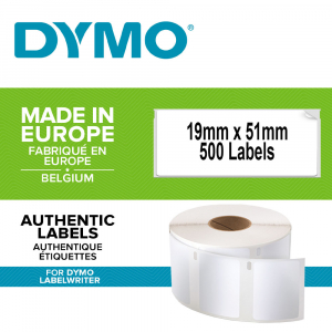 DYMO LabelWriter Multi-purpose labels, removable, 19mmx51mm, paper white, 11355 S07225500