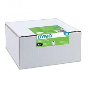 Etichete termice, DYMO LabelWriter, repozitionabile, 57mmx32mm, hartie alba, 12 role, 2093095 11354 S07225400