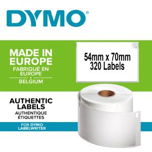 Etichete termice, DYMO LabelWriter, multifunctionale, permanente, 54mmx70mm, hartie alba, 1 rola/cutie, 320 etichete/rola, 99015 S07224400