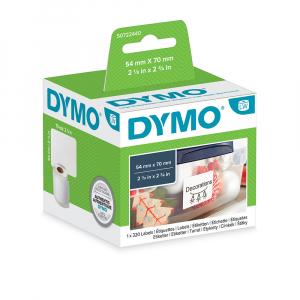 Etichete termice, DYMO LabelWriter, multifunctionale, permanente, 54mmx70mm, hartie alba, 1 rola/cutie, 320 etichete/rola, 99015 S07224404
