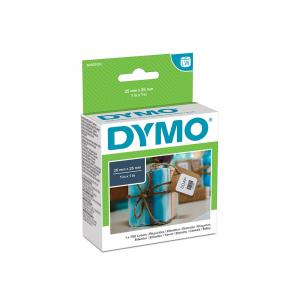 Etichete termice, DYMO LabelWriter, multifunctionale, patrate, permanente, 25mmx25mm, hartie alba, 1 rola/cutie, 750 etichete/rola, S09291205