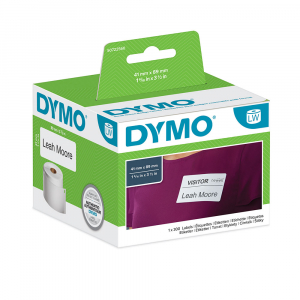 Etichete termice, DYMO LabelWriter, repozitionabile, 89mmx41mm, hartie alba, 11356 S07225604