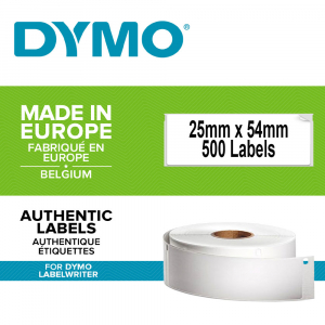 DYMO LabelWriter Return address international labels, removable, 25mmx54mm, paper white, 11352 S07225200