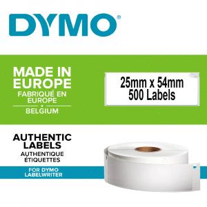 Etichete termice, DYMO LabelWriter, repozitionabile, 25mmx54mm, hartie alba, pentru adrese, 11352 S07225200
