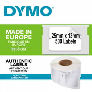 Etichete termice, DYMO LabelWriter, repozitionabile, 25mmx13mm, hartie alba, 11353 S07225300