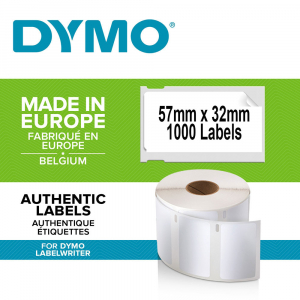 Etichete termice, DYMO LabelWriter, repozitionabile, 57mmx32mm, hartie alba, 11354 S07225400