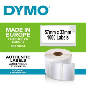 Etichete termice, DYMO LabelWriter, repozitionabile, 57mmx32mm, hartie alba, 11354R S07225400