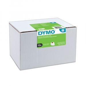 Etichete termice, DYMO LabelWriter, adrese voiaj, permanente, 54mmx101mm, hartie alba, 12 role/cutie, 220 etichete/rola, 99014 S0722420 20155406