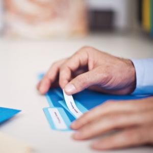 Etichete termice, DYMO LabelWriter, dosare suspendate, permanente, 12mmx50mm, hartie alba, 1 rola/cutie, 220 etichete/rola, 99017 S07224602