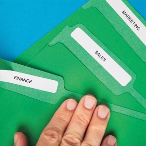 Etichete termice, DYMO LabelWriter, dosare suspendate, permanente, 12mmx50mm, hartie alba, 1 rola/cutie, 220 etichete/rola, 99017 S07224604